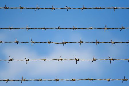 barbed wires close to each other Stock Photo - 492081
