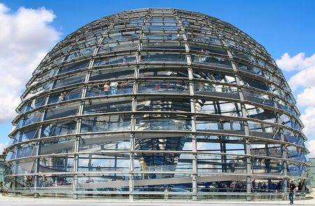 This is the new cupola of the Reichstag in Berlin, Germany.