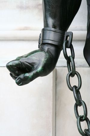 Sculpture -  Chained Up Hand Stock Photo - 543747