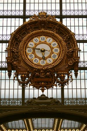 Train station clock from  Orsay  museum photo