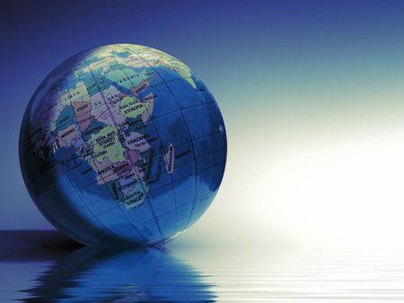 globe illustration: Digital world globe illustration.
