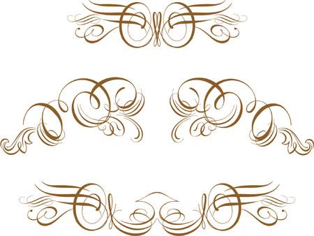 Kunstvolle Blättern Vector Blättern, Kartusche, Dekor-, Vektor Einige wirklich viktorianischen Stil Akzente. Sehr Gut verwendet in fast jedes Design Vektorgrafik