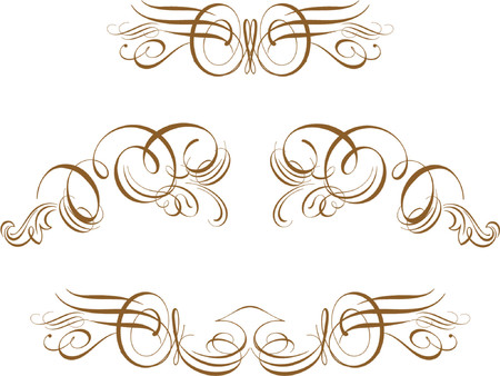 the romanticism: Ornate Scroll Vector                Scroll, cartouche, decor, vector                            Some truly victorian-style accents. Great uses in almost any design Illustration