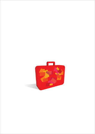 simple suitcase icon.        Suitcase Icon    Great uses in almost any design. Vector illustration. Stock Vector - 722366