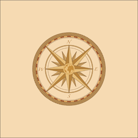 lost world: Vector Compass. Great for any direction you want to go...    . Vector illustration. Illustration