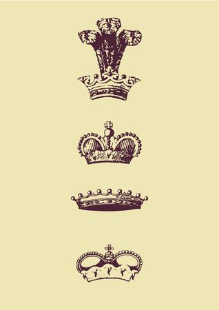 vectorized: Icono De la Corona De Vectorized. Ilustraci�n del vector.