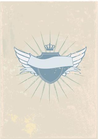 you can: Una insignia o escudo her�ldico, en blanco as� que usted puede agregar sus propias im�genes. Ilustraci�n vectorial.  Vectores