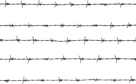 thrash: five pieces of barbed wire