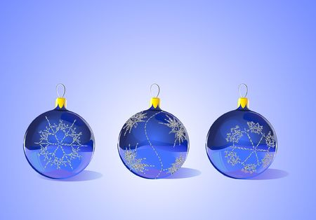 Christmas Tree Ornaments - each item is separate and scalable - ready for Christmas, winter, or seasonal promotions. Stock Photo - 852684