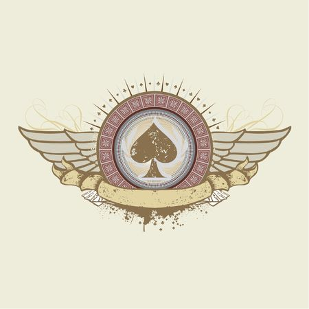 illustration on a gambling subject. spades suit emblem  illustration