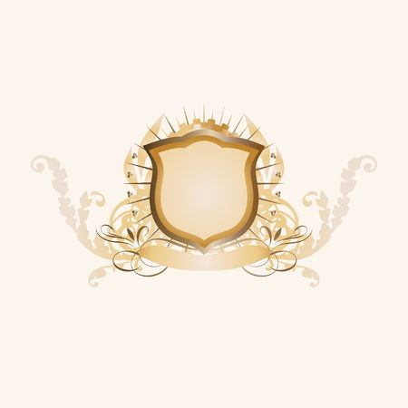 own: An heraldic shield or badge  ,  blank so you can add your own images.