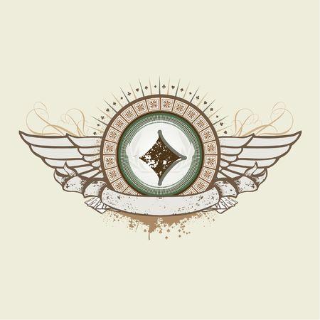illustration on a gambling subject. Diamond Suit emblem Stock Illustration - 922818