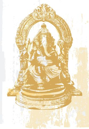 ancient yoga: Indian symbols - Statue of Ganesha, the God of education, knowledge and wisdom in the Hindu mythology.