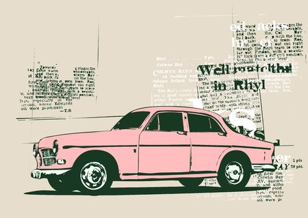 collector's: Illustration of old vintage custom collectors car