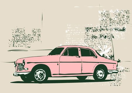 cobradores: Ilustraci�n del coche del colector de encargo de la vieja vendimia