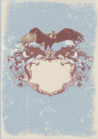 Decorative frame with  stylized  eagle. Stock Photo - 923200