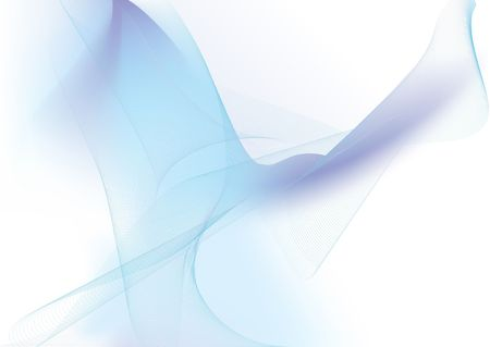 illustration - abstract background made of color splashes and curved lines Stock Photo