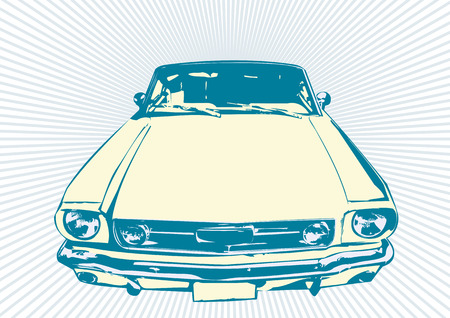 renovacion: Elegante vector illustartion retro de los coches