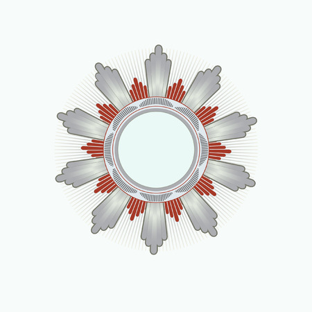 Insignia -  star shaped    .  Blank so you can add your own images. Vector illustration.  Vector