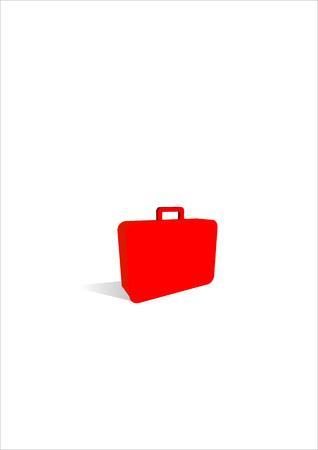 simple suitcase icon. Vector