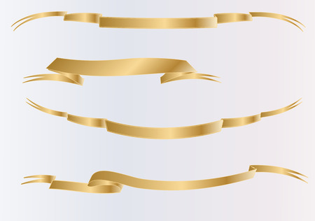 A series of vector scrolls. Vector