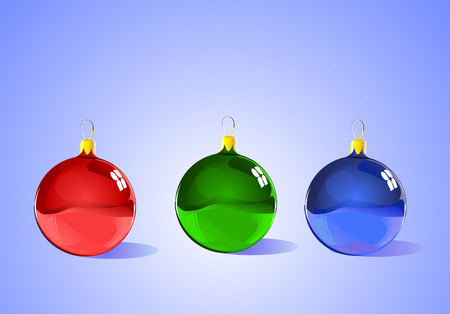 scalable: Christmas Tree Ornaments - each item is separate and scalable - ready for Christmas, winter, or seasonal promotions.