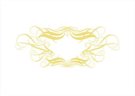 Vector ornamental elements. Suggested uses: titling frame and corner details. . Vector illustration. Vector