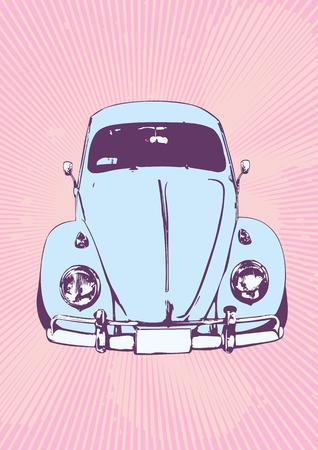 escarabajo: ilustraci�n vectorial de la vieja costumbre de Volkswagen Beetle