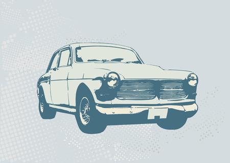 Vector illustratie van oude vintage aangepaste collector's auto