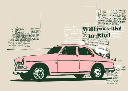 collector's: Vector Illustration of old vintage custom collectors car