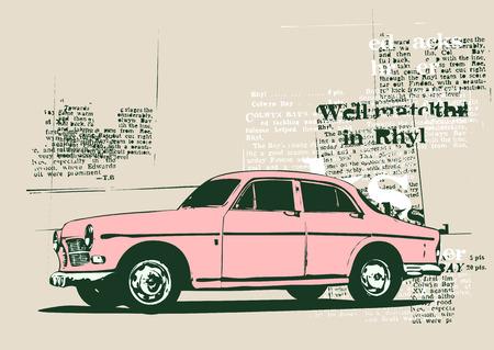 cobradores: Vector Ilustraci�n de cosecha vieja costumbre de coleccionista de coches