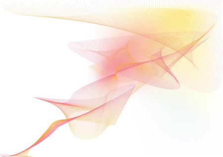 voluptuous: illustration - abstract background made of color splashes and curved lines