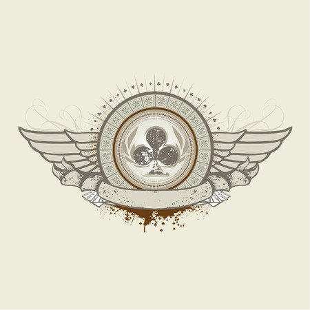 ace of clubs: Vector illustration on a gambling subject. Club Suit emblem    Illustration