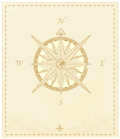 lost world:  Vector Compass. Great for any direction you want to go...     Vector illustration. Illustration