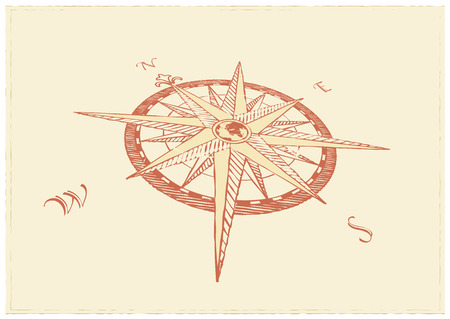nautical map:  Vector Compass. Great for any direction you want to go...     Vector illustration.