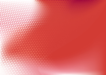 red  abstract techno background   ;                composition of dots and curved lines--great for backgrounds, or layering over other images Vector