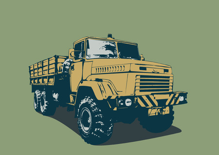illustration of vintage  truck in a  grunge style. Vector illustration. Vector