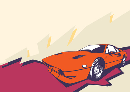 Vector Illustration of old vintage custom collectors car Vector