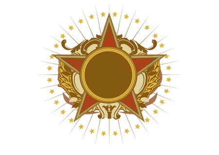 energy ranking: Insignia - star shaped   .  Blank so you can add your own images. Vector illustration. Illustration