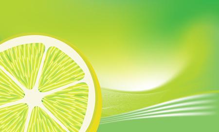 Fresh lemon on abstract background . Vector illustration. Vector