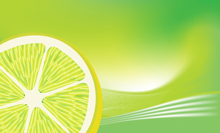 Fresh lemon on abstract background . Vector illustration.
