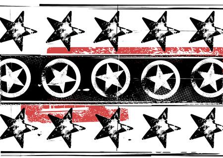 estilo urbano: Ilustraci�n de Vector Grunge estrellas patr�n. Urbano estilo.