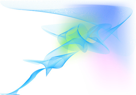 computer animation: Vector illustration - abstract background made of color splashes and curved lines