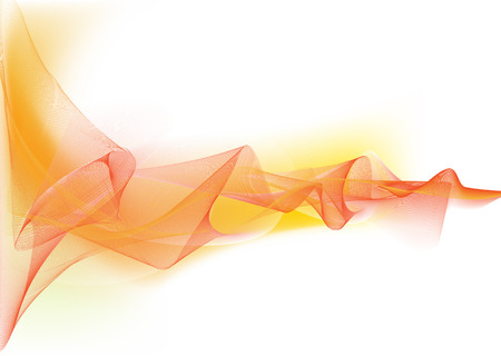 composite: Vector illustration - abstract background made of color splashes and curved lines