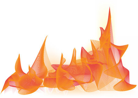 Vector illustration - abstract background made of color splashes and curved lines Vector