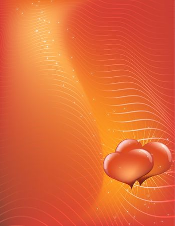 illustration - abstract Valentine's Day background made of curved lines  Stock Illustration - 2523359