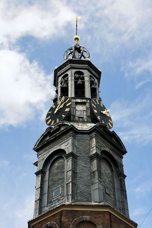 The old church of Amsterdam             Originally part of the medieval city wall, and later used to house the Mint. photo