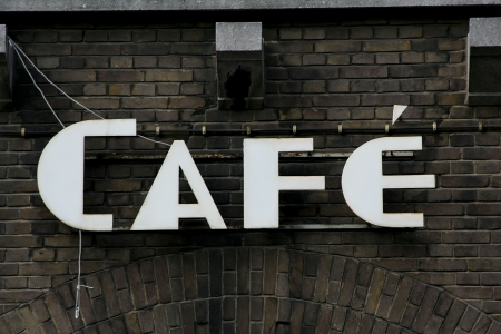 Old rusted cafe sign. Stock Photo - 2854970