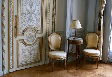classic furniture: Antique seats in Villa Ephrussi de Rothschild