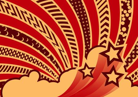 graf: Vector illustration - funky looking graf element.  Pattern background.